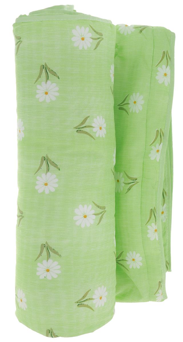 Одеяло летнее OL-Tex Miotex, наполнитель: полиэфирное волокно Holfiteks, цвет: салатовый, белый, 200 х 220 смМХПЭ-22-1_зеленый, мелкие ромашкиЛегкое летнее одеяло OL-Tex Miotex создаст комфорт и уют во время сна. Чехол выполнен из полиэстера и оформлен красочным рисунком. Внутри - современный наполнитель из полиэфирного высокосиликонизированного волокна Holfiteks, упругий и качественный. Прекрасно держит тепло. Одеяло с наполнителем Holfiteks легкое и комфортное. Не вызывает аллергии. Holfiteks - это возможность легко ухаживать за своими постельными принадлежностями. Изделие можно стирать - оно быстро и полностью высыхает, что обеспечивает гигиену спального места при невысокой цене на продукцию.Плотность: 100 г/м2.