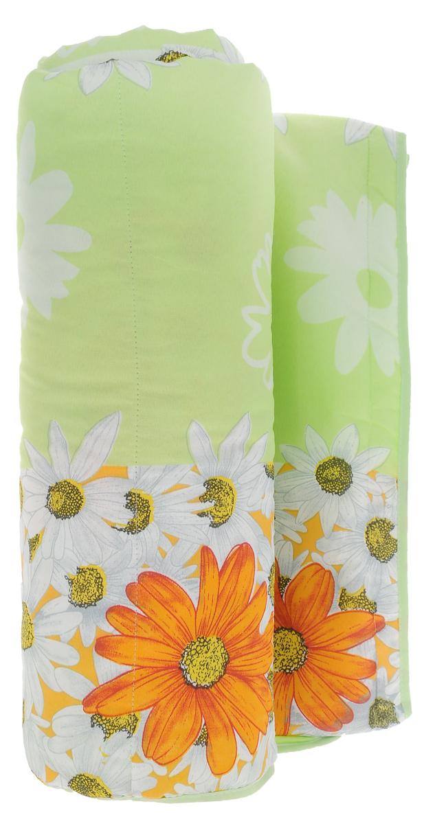 Одеяло летнее OL-Tex Miotex, наполнитель: полиэфирное волокно Holfiteks, цвет: салатовый, желтый, 200 см х 220 смМХПЭ-22-1_зеленый, крупные ромашкиЛегкое летнее одеяло OL-Tex Miotex создаст комфорт и уют во время сна. Чехол выполнен из полиэстера и оформлен красочным рисунком. Внутри - современный наполнитель из полиэфирного высокосиликонизированного волокна Holfiteks, упругий и качественный. Прекрасно держит тепло. Одеяло с наполнителем Holfiteks легкое и комфортное. Даже после многократных стирок не теряет свою форму, наполнитель не сбивается, так как одеяло простегано и окантовано. Не вызывает аллергии. Holfiteks - это возможность легко ухаживать за своими постельными принадлежностями. Изделие можно стирать - оно быстро и полностью высыхает, что обеспечивает гигиену спального места при невысокой цене на продукцию.Плотность: 100 г/м2.