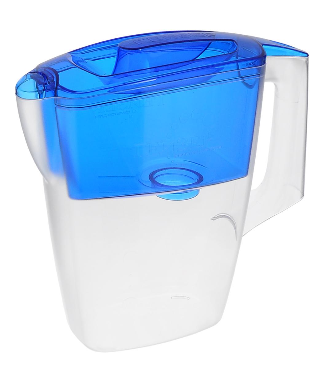 Фильтр-кувшин Гейзер Мини, с картриджем, цвет: прозрачный, синий, 2,5 л62046_синий, прозрачныйФильтр-кувшин Гейзер Мини, выполненный из пластика, станет необходимым помощником на вашей кухне. Он предназначен для очистки холодной водопроводной, скважинной и колодезной воды от ржавчины, растворенного железа, тяжелых металлов, хлора, органических соединений и других примесей. Фильтр-кувшин обладает рядом преимуществ: - компактный размер, помещается в дверце холодильника,- имеет шкалу объема очищенной воды,- оснащен герметичной системой установки картриджа,- можно мыть в посудомоечной машине.