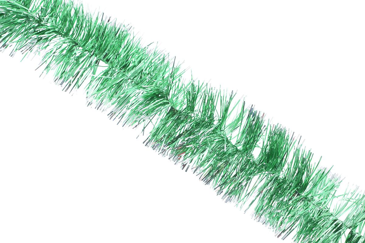 Мишура новогодняя Sima-land, цвет: зеленый, серебристый, диаметр 5 см, длина 128 см. 701305701305_зелёныйМишура новогодняя Sima-land, выполненная из фольги, поможет вам украсить свой дом к предстоящим праздникам. Мишура армирована, то есть имеет проволоку внутри и способна сохранять приданную ей форму. Новогодняя елка с таким украшением станет еще наряднее. Новогодней мишурой можно украсить все, что угодно - елку, квартиру, дачу, офис - как внутри, так и снаружи. Можно сложить новогодние поздравления, буквы и цифры, мишурой можно украсить и дополнить гирлянды, можно выделить дверные колонны, оплести дверные проемы.