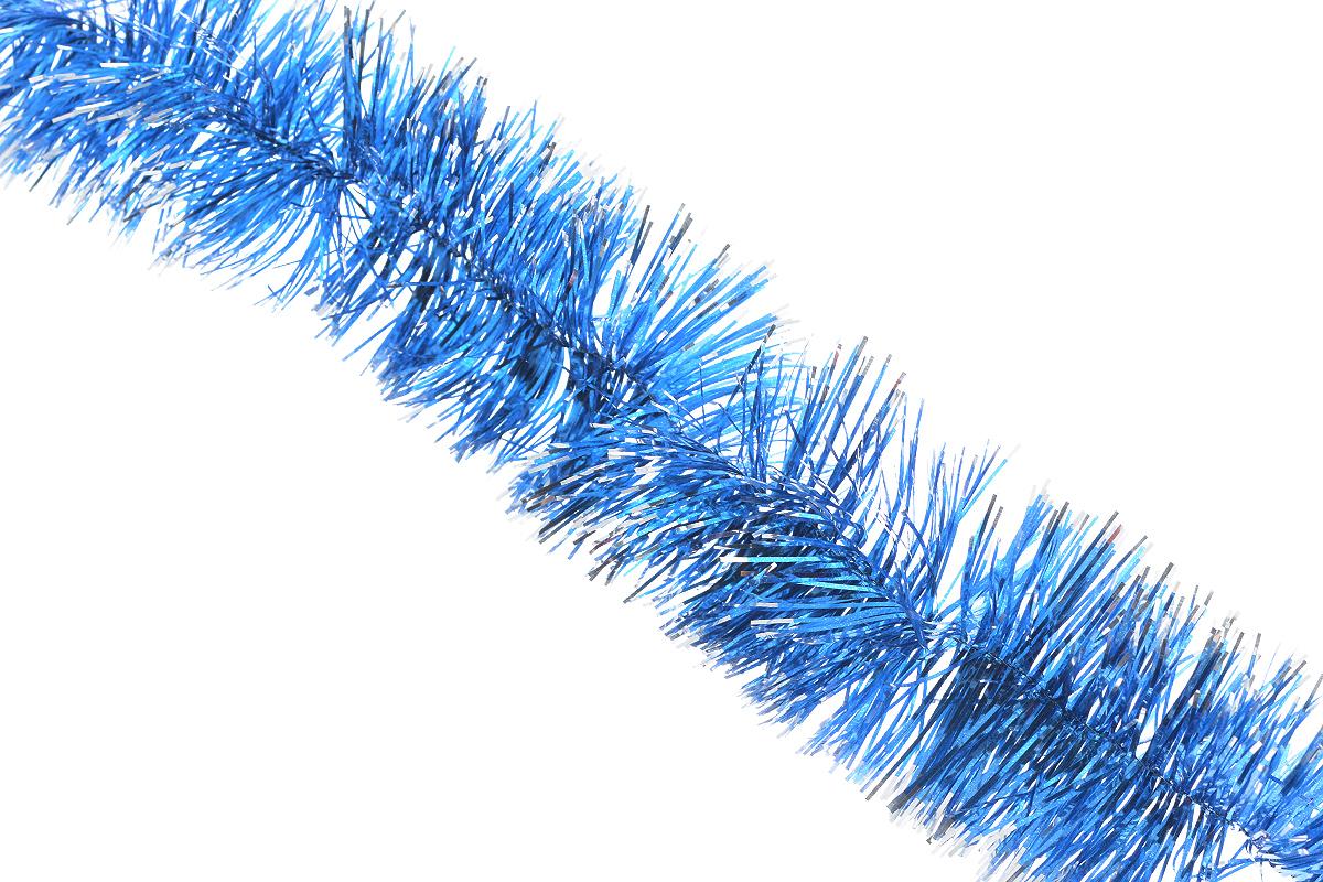 Мишура новогодняя Sima-land, цвет: синий, серебристый, диаметр 5 см, длина 128 см. 701305701305_синий/серебристыйНовогодняя мишура Sima-land, выполненная из фольги, поможет вам украсить свой дом к предстоящим праздникам. А новогодняя елка с таким украшением станет еще наряднее. Мишура армирована, то есть имеет проволоку внутри и способна сохранять любую форму, которую вы ей придадите.Новогодней мишурой можно украсить все, что угодно - елку, квартиру, дачу, офис - как внутри, так и снаружи. Можно сложить новогодние поздравления, буквы и цифры, мишурой можно украсить и дополнить гирлянды, можно выделить дверные колонны, оплести дверные проемы.