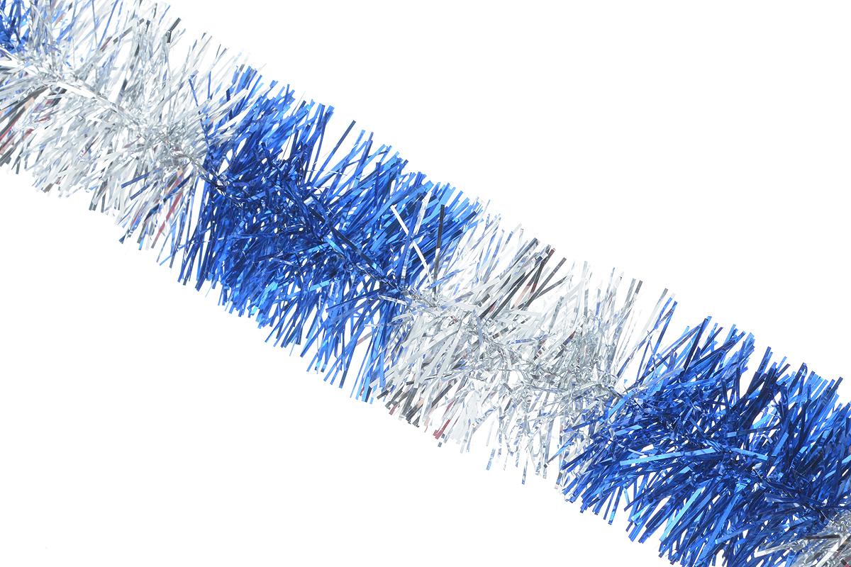 Мишура новогодняя Sima-land, цвет: синий, серебристый, диаметр 4 см, длина 200 см. 702624702624_синий/серебристыйМишура новогодняя Sima-land, выполненная из двухцветной фольги, поможет вам украсить свой дом к предстоящим праздникам. Мишура армирована, то есть имеет проволоку внутри и способна сохранять приданную ей форму.Новогодняя елка с таким украшением станет еще наряднее. Новогодней мишурой можно украсить все, что угодно - елку, квартиру, дачу, офис - как внутри, так и снаружи. Можно сложить новогодние поздравления, буквы и цифры, мишурой можно украсить и дополнить гирлянды, можно выделить дверные колонны, оплести дверные проемы. Коллекция декоративных украшений из серии Зимнее волшебство принесет в ваш дом ни с чем несравнимое ощущение праздника! Создайте в своем доме атмосферу тепла, веселья и радости, украшая его всей семьей.