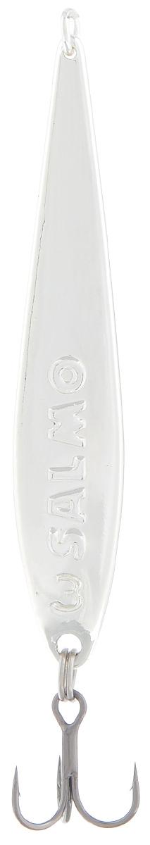 Блесна вертикальная зимняя Lucky John, цвет: серебряный, 5,5 см, 6 г катушка lucky john anira spin 7 1500 fd