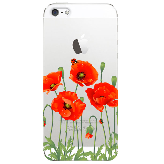 Deppa Art Case чехол для Apple iPhone 5/5s, Flowers (мак)100098Чехол Deppa Art Case для Apple iPhone 5/5s предназначен для защиты корпуса смартфона от механических повреждений и царапин в процессе эксплуатации. Имеется свободный доступ ко всем разъемам и кнопкам устройства. Чехол изготовлен из поликарбоната толщиной 1 мм и оформлен принтом с изображением цветков мака.