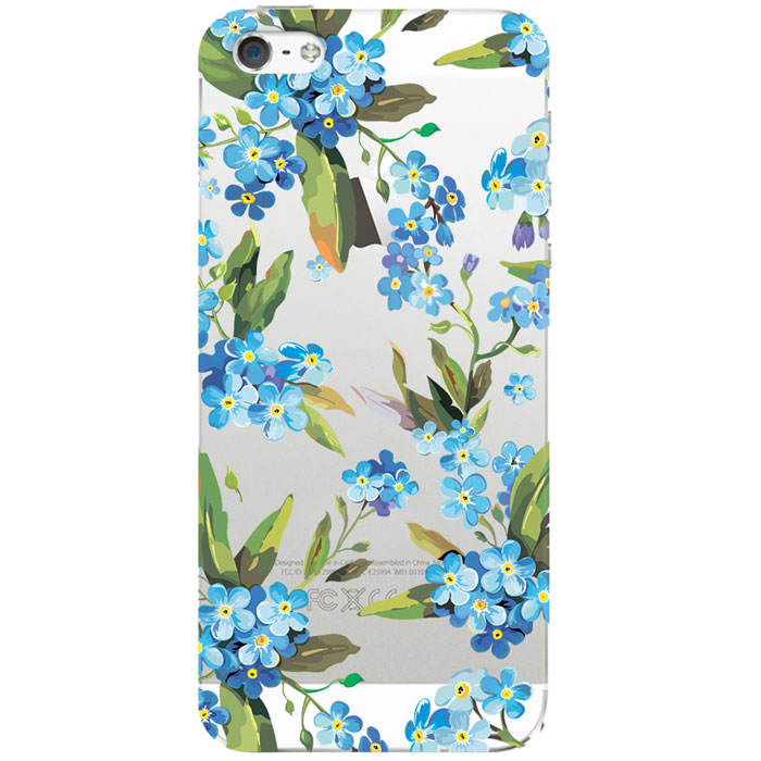 Deppa Art Case чехол для Apple iPhone 5/5s, Flowers (незабудка)