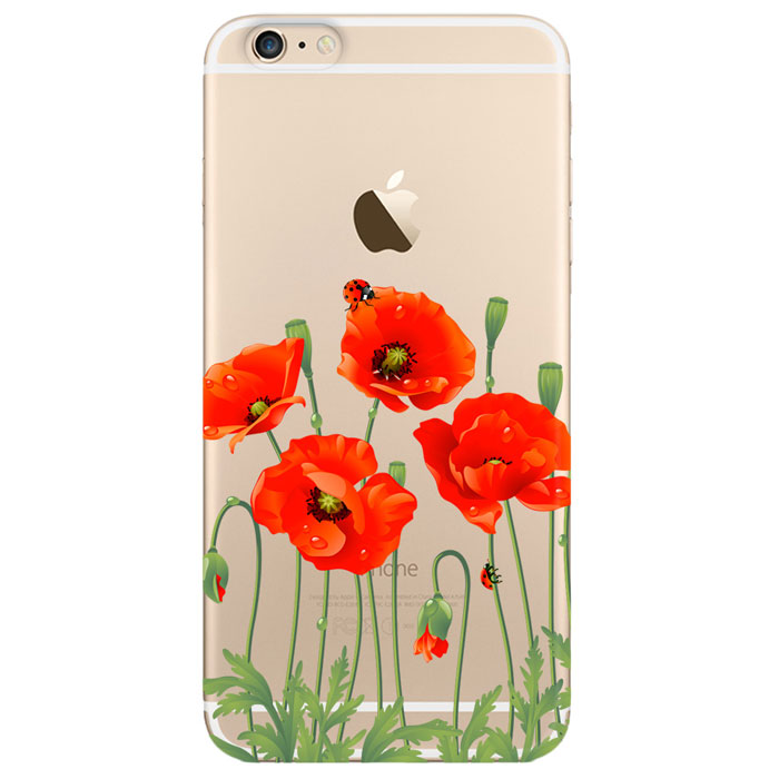 Deppa Art Case чехол для Apple iPhone 6 Plus/6s Plus, Flowers (мак) чехол apple leather case для iphone 6 6s plus