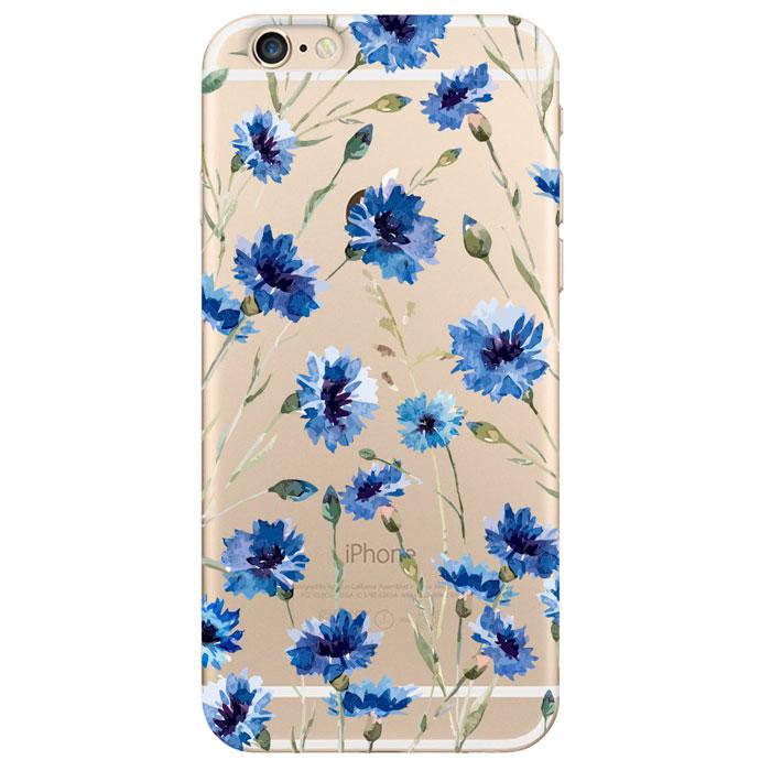 Deppa Art Case чехол для Apple iPhone 6/6s, Flowers (василек)