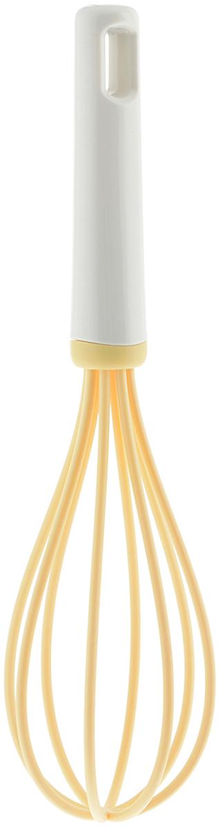 Венчик Tescoma Delicia, цвет: желтый, длина 26 см630050Венчик Tescoma Delicia, изготовленный из термостойкого пластика, поможет вам с легкостью смешать и взбить заправку, крем или тесто. Ручка изделия оснащена отверстием, за которое венчик можно подвесить в любом удобном для вас месте. Практичный и удобный венчик Tescoma Delicia займет достойное место среди аксессуаров на вашей кухне.Длина венчика: 26 см.Ширина рабочей части: 7 см.