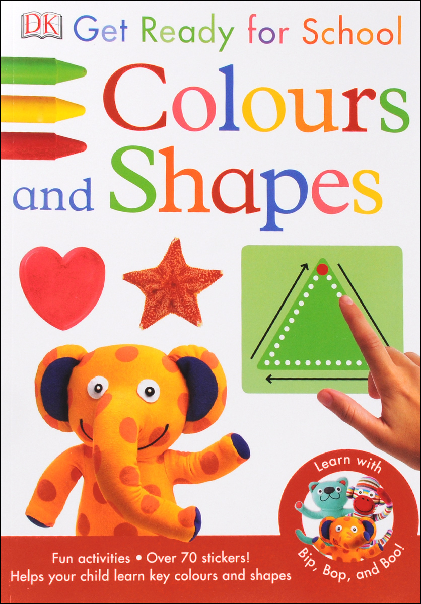 Colours and Shapes get ready for school first words sticker book