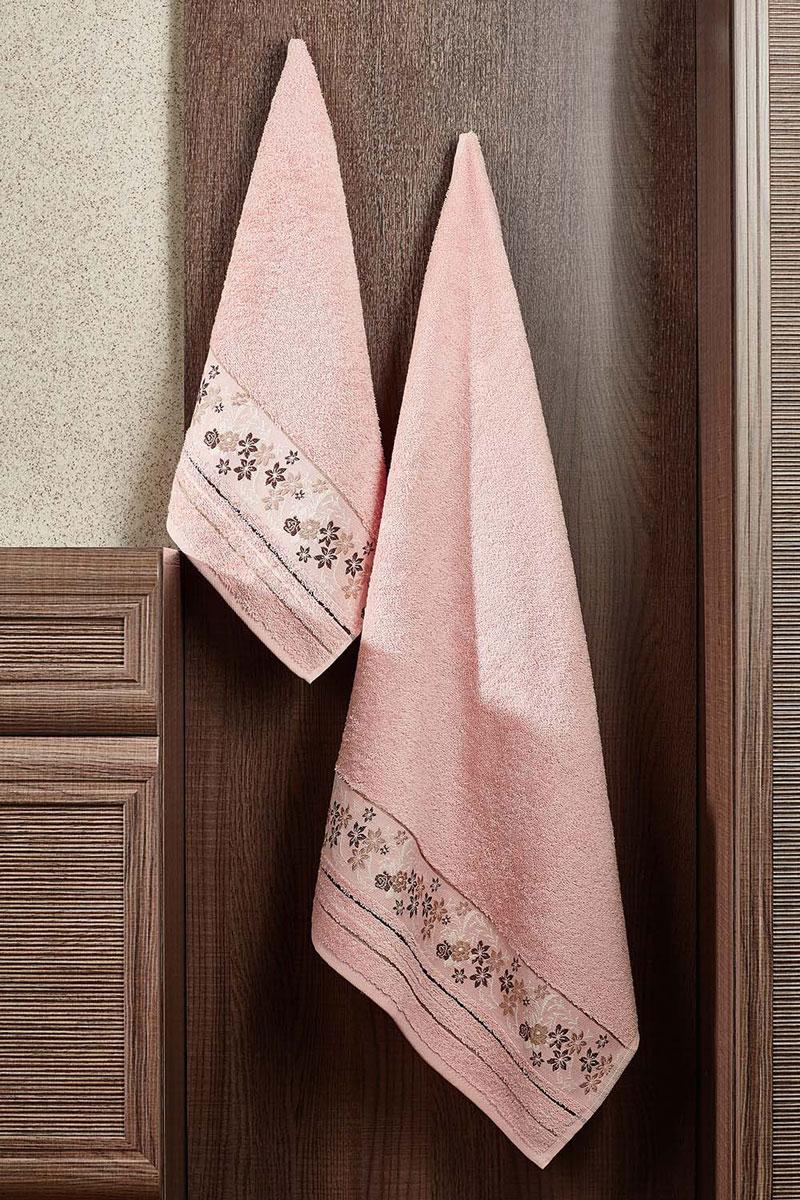 Полотенце махровое Primavelle Mile, цвет: светло-розовый, 70 х 140 см2857014-M41Махровое полотенце Primavelle Mile - невероятно стильный и современный аксессуар для вашей ванной. Полотенце, изготовленное из натурального хлопка соригинальной цветочной вышивкой, подарит массу положительных эмоций и приятных ощущений. Изделие отличается нежностью и мягкостью материала, утонченным дизайном и превосходным качеством. Оно прекрасно впитывает влагу, быстро сохнет и не теряет своих свойств после многократных стирок. Махровое полотенце Primavelle Mile станет достойным выбором для вас и приятным подарком для ваших близких.
