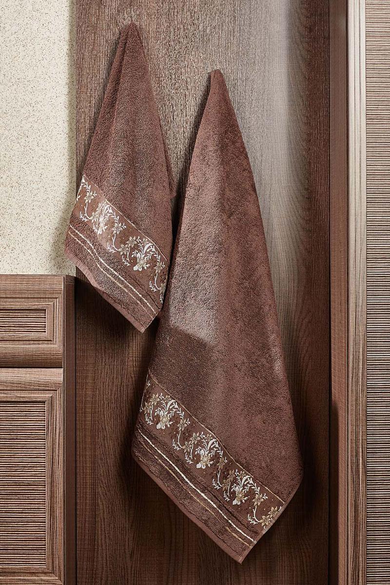Полотенце махровое Primavelle Mile, цвет: темно-коричневый, 70 х 140 см2857014-M05Махровое полотенце Primavelle Mile - невероятно стильный и современный аксессуар для вашей ванной. Полотенце, изготовленное из натурального хлопка с оригинальной цветочной вышивкой, подарит массу положительных эмоций и приятных ощущений. Изделие отличается нежностью и мягкостью материала, утонченным дизайном и превосходным качеством. Оно прекрасно впитывает влагу, быстро сохнет и не теряет своих свойств после многократных стирок. Махровое полотенце Primavelle Mile станет достойным выбором для вас и приятным подарком для ваших близких.
