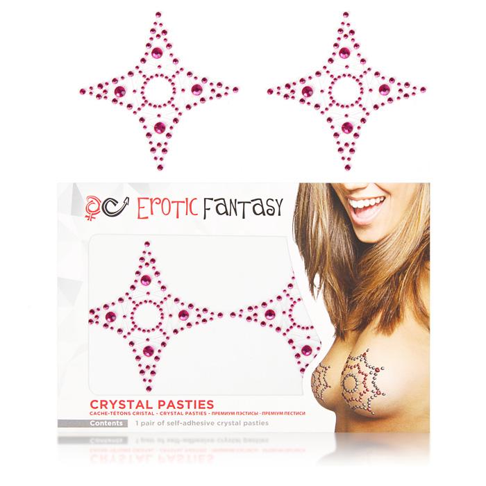 Пэстисы Erotic Fantasy Pink Star, цвет: розовый. EF-PC06. Размер универсальный erotic fantasy ef el12