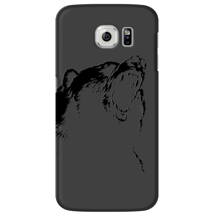 Deppa Art Case чехол для Samsung Galaxy S6, Black (медведь) mooncase soft silicone gel side flip pouch hard shell back чехол для samsung galaxy s6 black