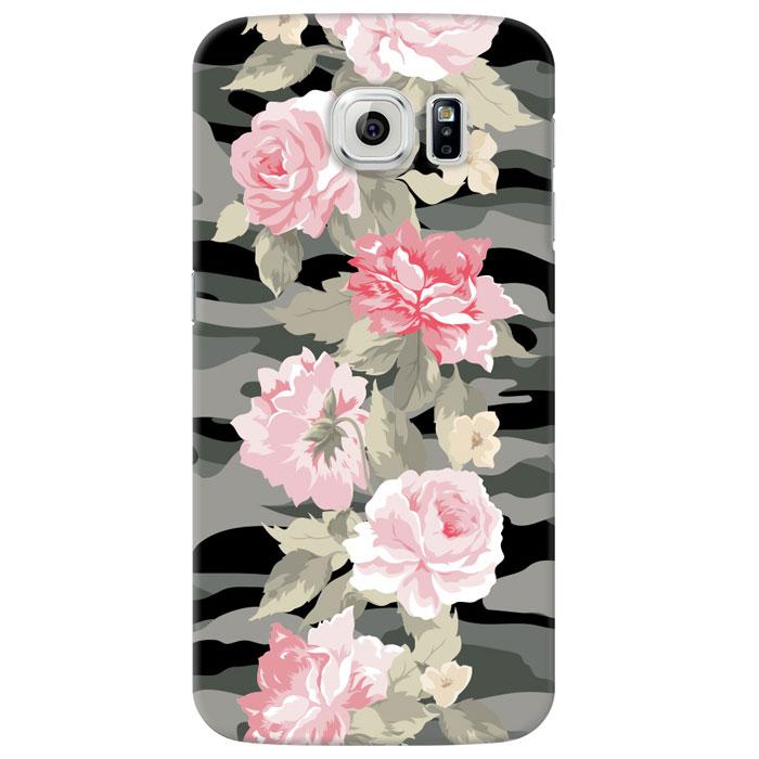 Deppa Art Case чехол для Samsung Galaxy S6, Military (пионы) чехол deppa gel case для samsung galaxy s6 edge прозрачный 85208