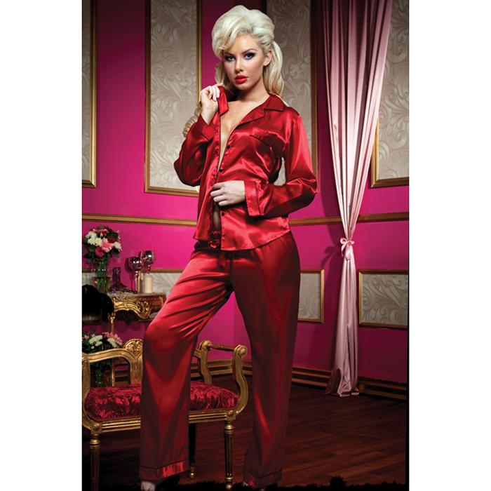 Купить Пижама женская Seven'til Midnight, цвет: красный. STM-30115P. Размер L (44/46)