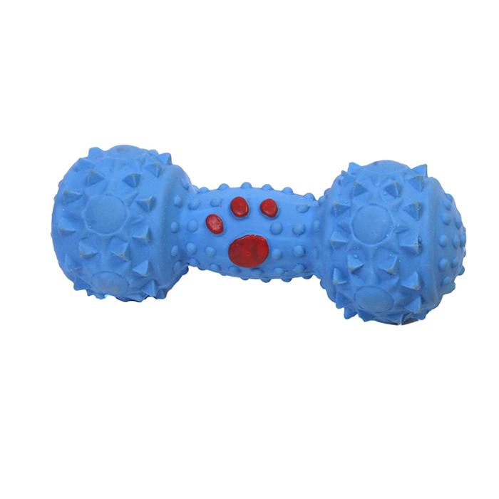 Игрушка для собак Ziver Гантелька, с пищалкой, цвет: голубой, длина 10 см игрушка для собак ziver осел длинноухий с пищалкой цвет голубой 18 см