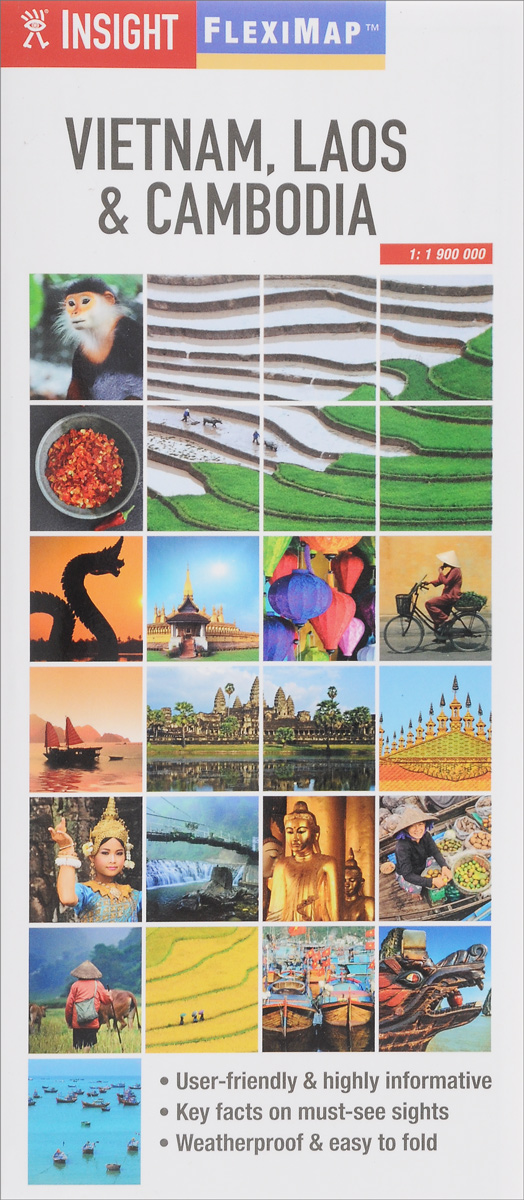 Insight Flexi Map: Vietnam, Laos & Cambodia contemporary chinese for beginners series exercise book chinese russian edition