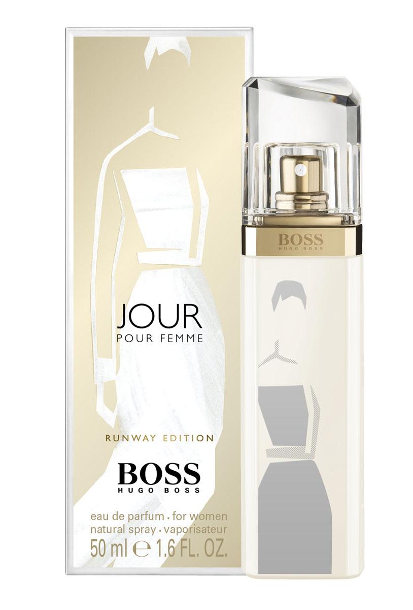 Hugo Boss Runway Jour парфюмерная вода 50 мл (лимитированный выпуск)0730870119990Белое дневное платье: изысканное и привлекательное, идеально для любых возможностей, которые могут открыться в течение дня, как и аромат boss jour - беззаботный и цветочный. Цветочный, цитрусовыйверхние ноты: агатосма, цветок грейпфрута, лаймовый аккорд.