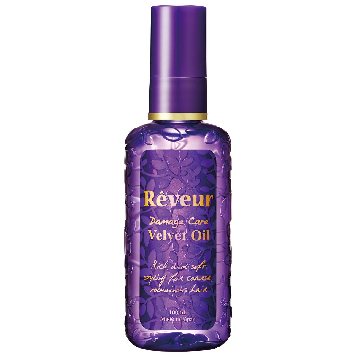 Reveur Масло для волос Velvet Oil Увлажнение и блеск, 100 мл70486В состав Reveur Velvet Oil входят натуральные природные масла, которые питают волос изнутри, восстанавливая структуру и возвращая ему блеск, сияние и упругость. Специально подобранные экстракты растений восстанавливают кутикулу, не утяжеляя волосы. Легкое нанесение и распределение, без склеивания.Масло Reveur Velvet Oil восстанавливает волосы, увлажняет и дает ощущение мягкости.Рекомендуется: Для сухих волос Для жестких и объемных волос Для пушащихся волос Нежный и свежий аромат цветов.Способ применения: на влажные волосы, слегка просушенные полотенцем, нанести необходимое количество масла (1-2 нажатия помпы) и распределить по длине пальцами. Остатки средства втереть в кончики волос. В случае нанесения на сухие волосы, следует сократить количество масла.Состав: циклопентасилоксан, циклометикон, диметикон, гидрогенизированный полиизобутилен, стеарамид этил диэтониум сакцинол гидролизированный белок гороха, масло мурумуру, масло семян бурачника, пантенол, бисаболол, глицерин, изомер сахар (из пшеницы), токоферол, вода, ароматизатор.