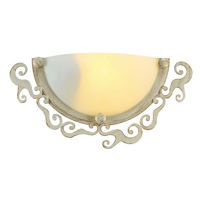 Светильник настенный Arte Lamp Riccioli. A1060AP-1WGA1060AP-1WGСветильник Arte Lamp Riccioli поможет создать в вашем доме атмосферу уюта и комфорта. Благодаря высококачественным материалам он практичен в использовании и отлично работает на протяжении долгого периода времени. Цоколь: Е27, 1х60 Ватт.Пылевлагозащита IP20.