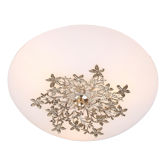 Светильник потолочный Arte Lamp PROVENCE. A4548PL-3GOA4548PL-3GOПотолочный светильник Arte Lamp PROVENCE поможет создать в вашем доме атмосферу уюта и комфорта. Благодаря высококачественным материалам он практичен в использовании и отлично работает на протяжении долгого периода времени. Стильный светильник круглой формы с плафоном из матового стекла и оригинальным оформлением подчеркнет ваш интерьер.