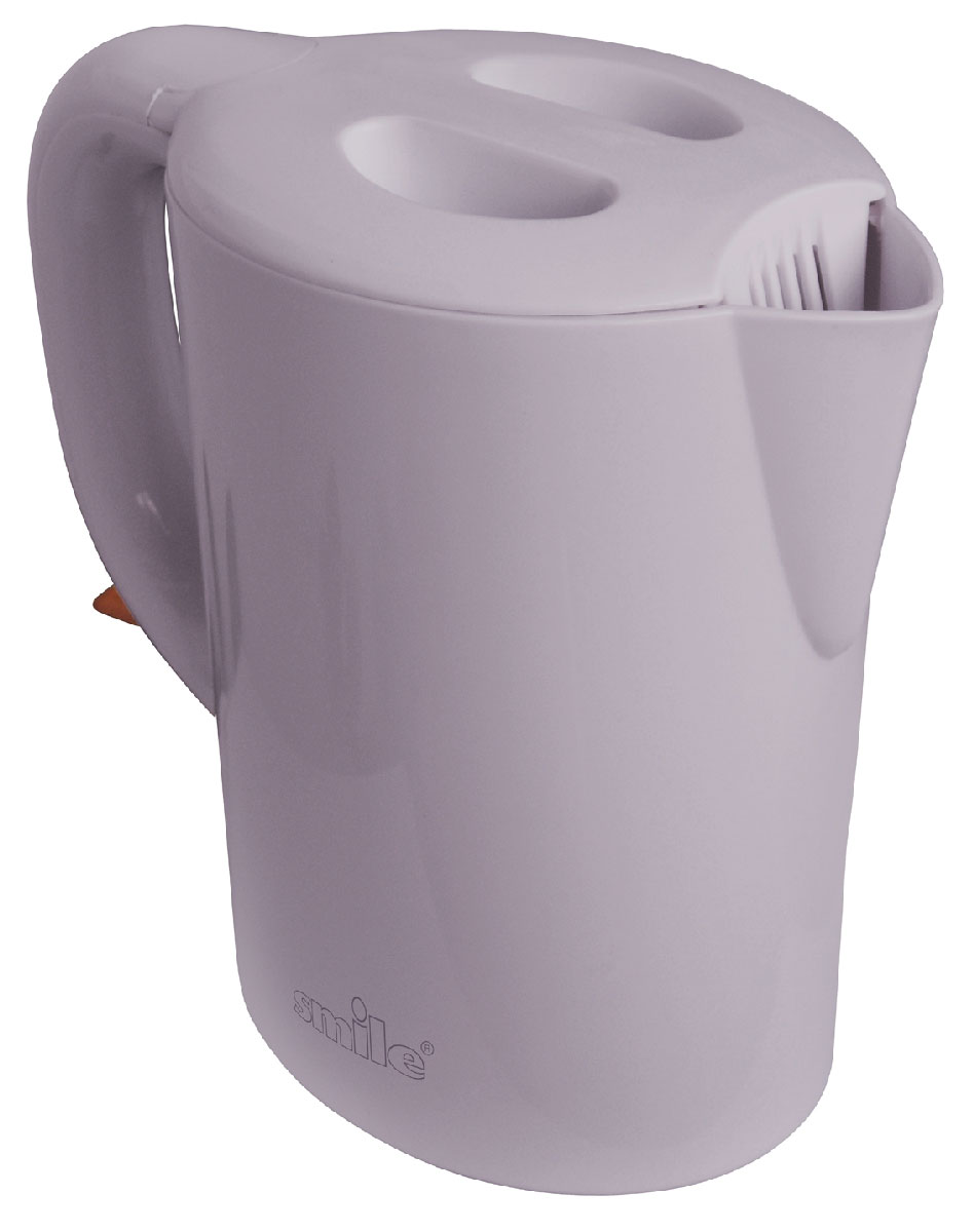 Smile WK 5105 электрочайникWK 5105Стильный электрический чайник Smile WK 5105 украсит и семейное чаепитие, и большое торжественное застолье. Этот чайник с классическим дизайном прекрасно впишется в интерьер вашей кухни. Индикатор уровня воды покажет вам точный объем жидкости, который находится внутри чайника и точку максимального объема.Питание: 220В / 50Гц