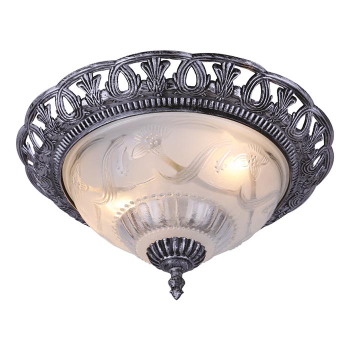 Светильник настенно-потолочный Arte Lamp Piatti. A8001PL-2SBA8001PL-2SBСветильник Arte Lamp Piatti поможет создать в вашем доме атмосферу уюта и комфорта. Благодаря высококачественным материалам он практичен в использовании и отлично работает на протяжении долгого периода времени. Светильник в классическом стиле с плафоном из матового стекла. Лампа: Е27, 2х40 Ватт. Диаметр: 35 см.
