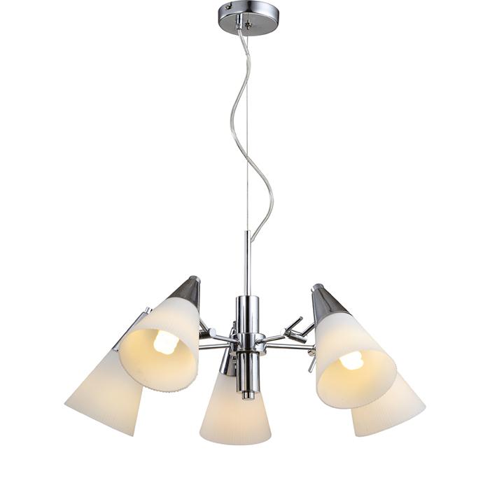 Светильник подвесной Arte Lamp Brooklyn. A9517LM-5CCA9517LM-5CCСветильник Arte Lamp Brooklyn поможет создать в вашем доме атмосферу уюта и комфорта. Благодаря высококачественным материалам он практичен в использовании и отлично работает на протяжении долгого периода времени. Цоколь Е14, 5х60 Ватт. Тип крепления: скоба на шурупах.