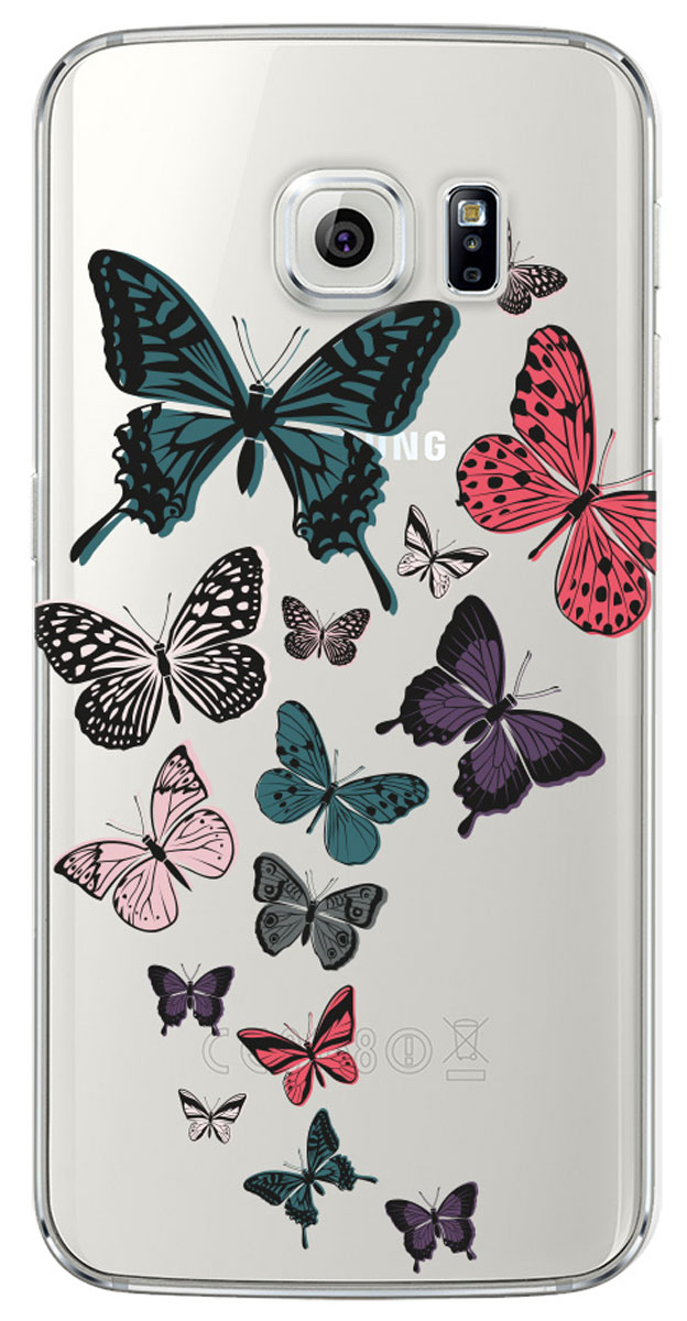 Deppa Art Case чехол для Samsung Galaxy S6 edge, Military (бабочки 2) чехол deppa art case и защитная пленка для samsung galaxy s6 edge person путин карта мира