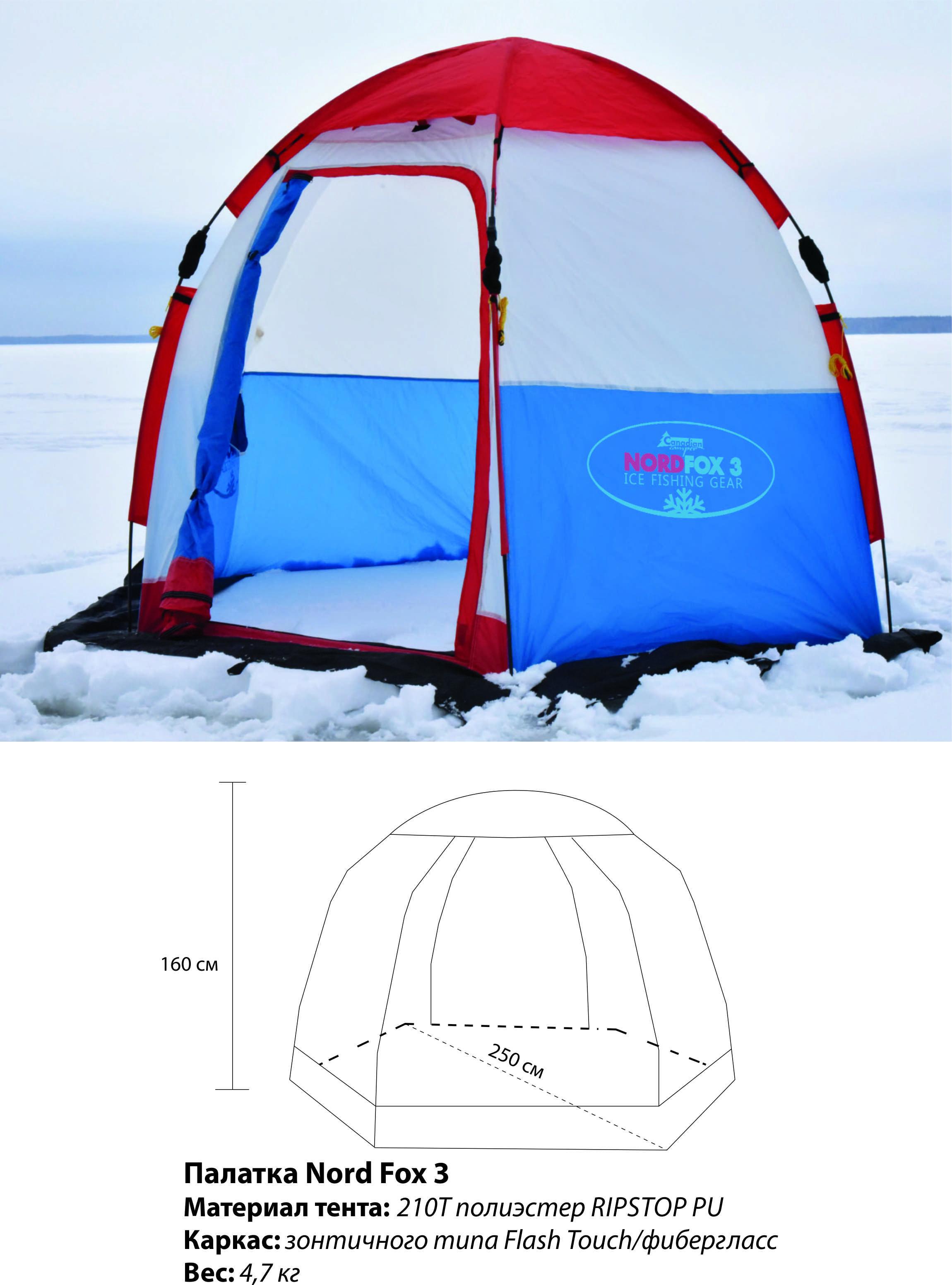 Палатка рыбака зимняя Canadian Camper Nord Fox 3 Canadian Camper