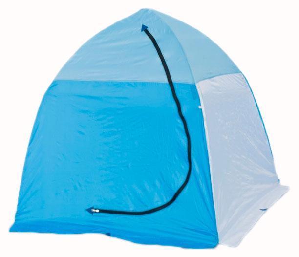 Палатка рыбака 1-м п/автомат н/тк, Стэк, белый/голубой СТЭК