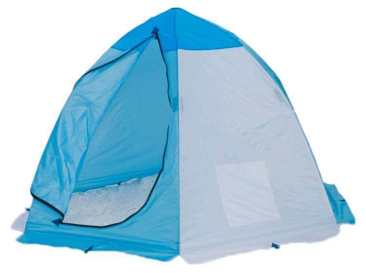 Палатка рыбака 2-м п/автомат н/тк, Стэк, желтый, белый, голубой