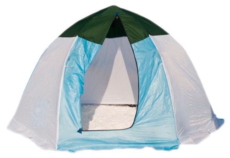 Палатка рыбака 3-м п/автомат брезент, Стэк, белый/голубой