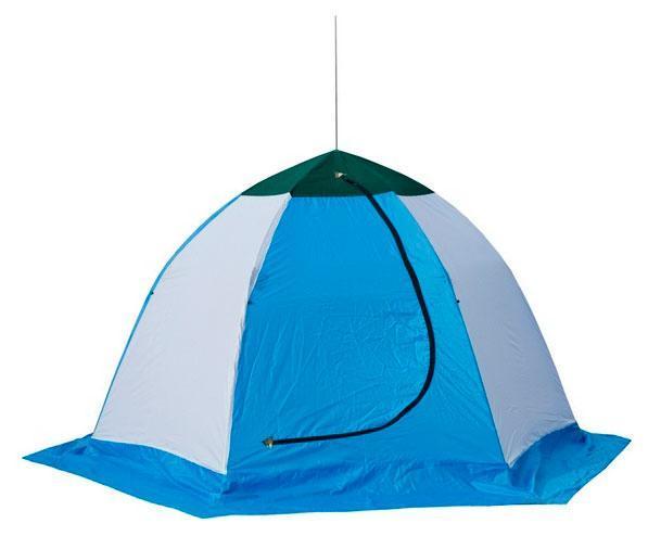 Палатка рыбака ELITE 3-м п/автомат н/тк, Стэк, белый/голубой