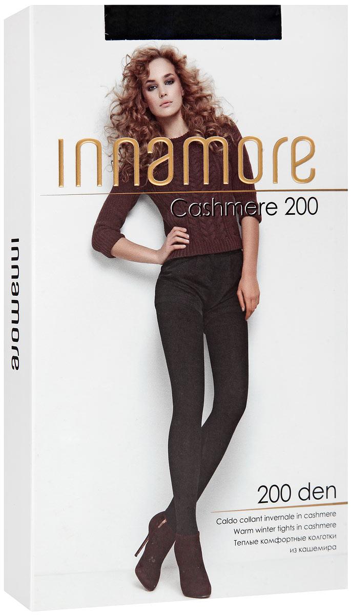Колготки Innamore Cashmere 200, цвет: Nero (черный). Размер 3Cashmere 200Теплые комфортные колготки из кашемира и вискозы. Удобный широкий пояс, плоские швы, гигиеническая ластовица, укрепленный мысок.Плотность: 200 den.