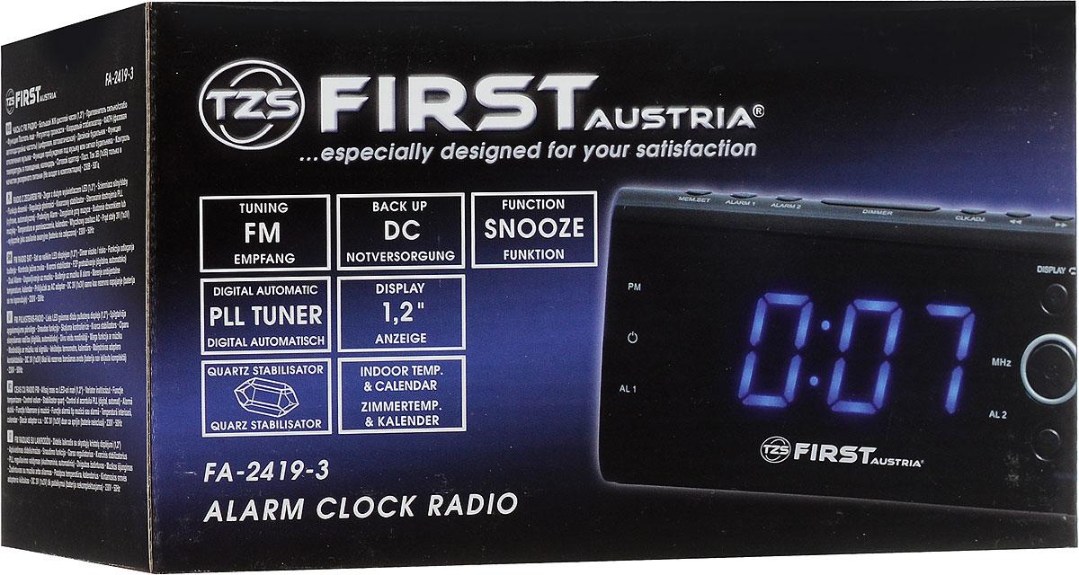 First FA-2419-3, Blackрадиочасы First