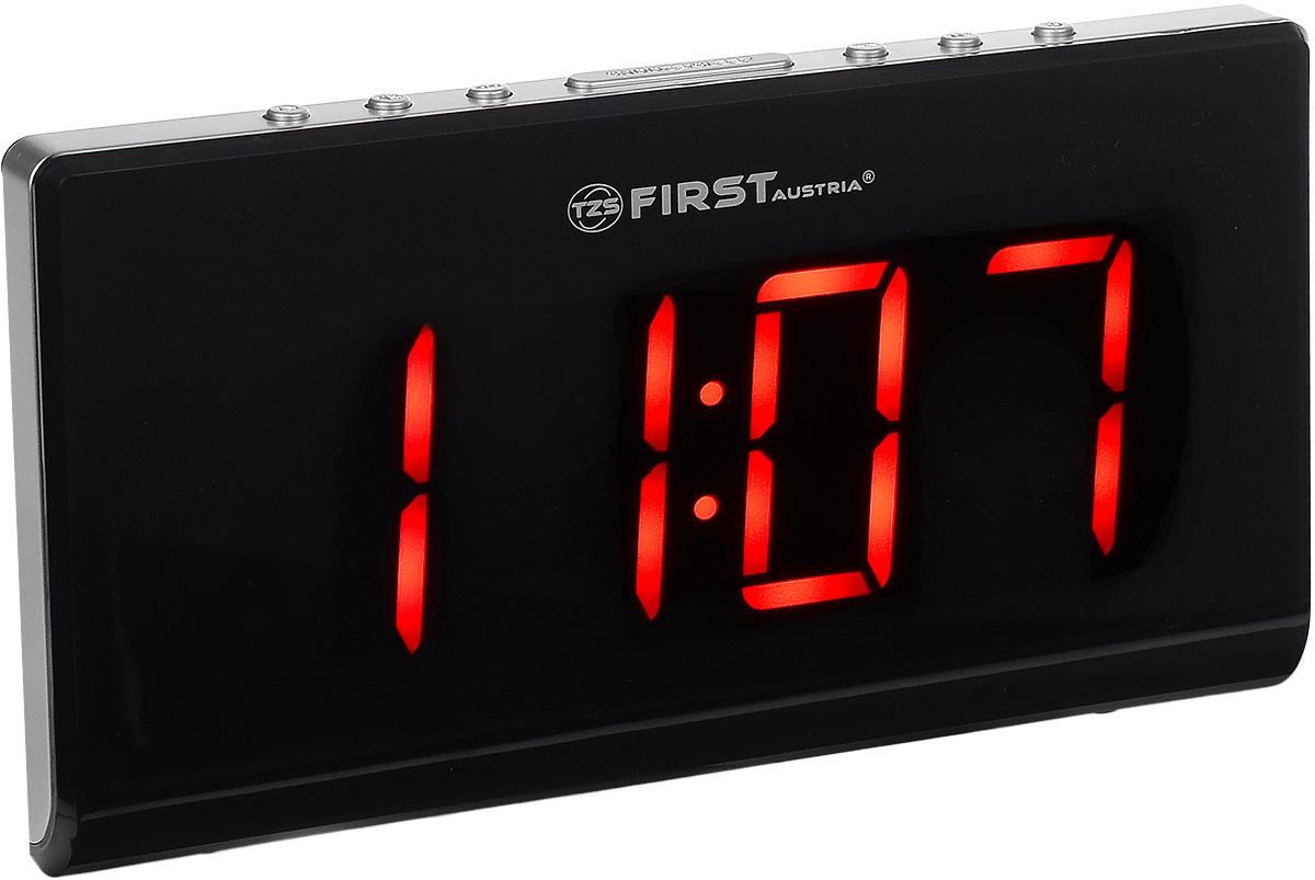 First FA-2416-1, Silver радиочасыFA-2416-1 SilverFirst FA-2416-1 - радиочасы с LED-дисплеем диагональю 1,8 дюйма. Устройство имеет кварцевый стабилизатор, атакже различные дополнительные функции: подъем под музыку или звонок, диммер, двойной будильник,календарь, а также таймер отключения на 90 минут. Вы также можете активировать отложенный сигнал чтобыпоспать еще немного времени. Будильник отключится и прозвенит через 9 минут.Фазовая автоподстройка частоты Резервное питание: 1 батарейка CR2032 (в комплект не входит)