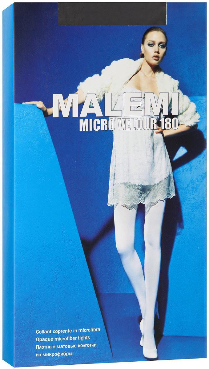 Колготки Malemi Micro Velour 180, цвет: Nero (черный). Размер 4 колготки omsa velour размер 4 плотность 40 den nero