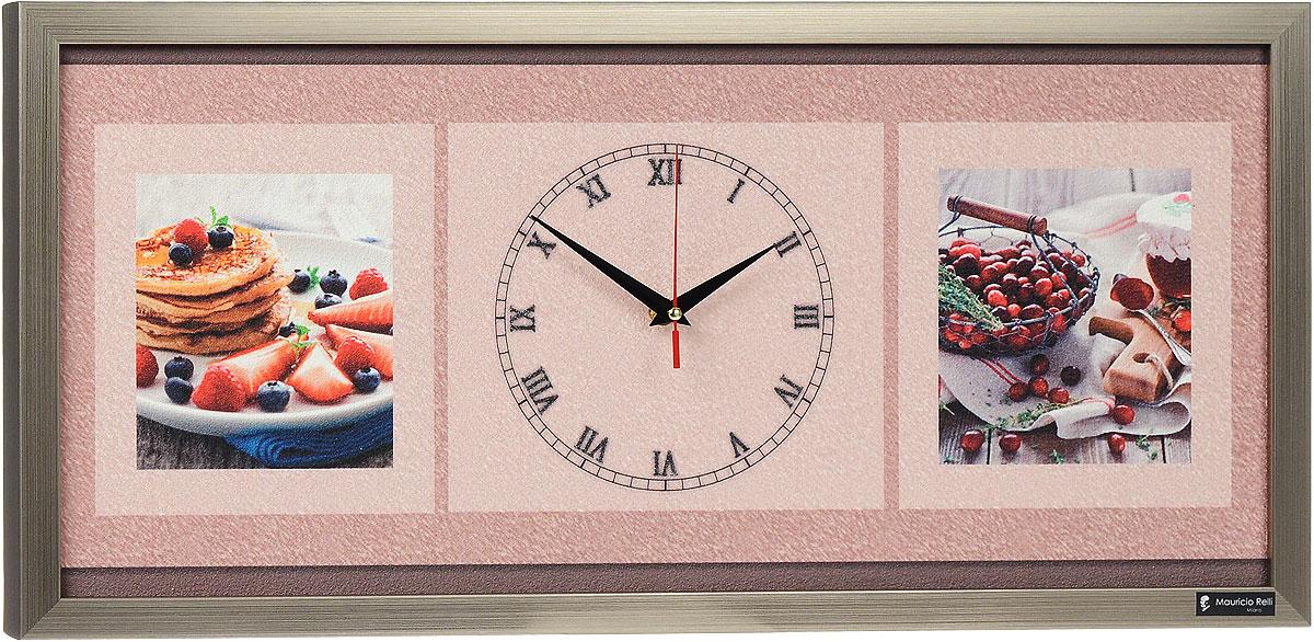 """Настенные кварцевые часы """"Dolci РМ-053"""", выполненные профессиональными художниками, своим эксклюзивным дизайном подчеркнут оригинальность интерьера вашего дома.  Часы прямоугольной формы оформлены фактурным изображением лакомств. Рисунок выполнен из песка вручную. Благодаря материалу исполнения, изображение получается объемным и реалистичным. Часы обрамлены рамой. Часы имеют три стрелки - часовую, минутную и секундную. На обратной стороне расположена металлическая петелька для подвешивания. Часы """"Dolci РМ-053"""" будут интересно смотреться как в офисе, так и в гостиной, а необычный дизайн привнесет индивидуальность в любой интерьер.  Такие часы послужат отличным подарком для ценителя практичных и оригинальных вещей. Рекомендуется докупить 1 батарейку 1,5V типа """"АА"""" (в комплект не входит)."""