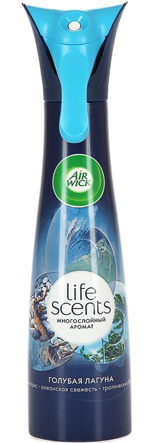 AirWick Life Scents освежитель воздуха Голубая лагуна 210 мл3015158AirWick LIFE SCENTS Голубая лагуна позволит вам быстро и эффективно устранить в помещении неприятные запахи, наполнив его неповторимым ароматом морской свежести. Средство не содержит вредного химического газа. AIRWICK выпускается в баллоне с распылителем, который равномерно распределяет аромат по комнате. Средство прекрасно подходит как для дома, так и для общественных помещений и наполнит свежестью вашу гостиную, спальню, туалет или ванну. Технология многослойного аромата, ощущение которого меняется в пространстве и во времени! Только LIFE SCENTS дарит постоянно меняющееся ощущение многослойного аромата, так же, как в жизни. Состав: пропеллент: сжатый воздух; менее 5% неионогенныеПАВ, денатурат, консервант, ароматизатор, эвгенол. Содержитбензизотиазолинон. Может вызвать аллергическую реакцию.