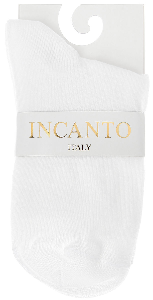 Носки женские Incanto Collant, цвет: белый (Bianco). IBD733004. Размер 3 (39/40)IBD733004_BiancoЖенские носки Incanto Collant изготовлены из высококачественного сырья. Носки очень мягкие на ощупь, а резинка плотно облегает ногу, не сдавливая ее, благодаря чему вам будет комфортно и удобно. Усиленная пятка и мысок обеспечивают надежность и долговечность.