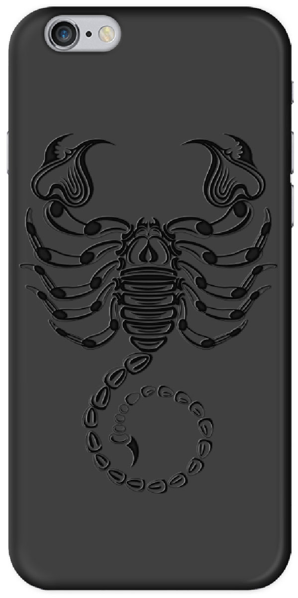 Deppa Art Case чехол для Apple iPhone 6/6s, Black (скорпион) deppa deppa art case world of tanks зверобой для apple iphone 6 6s чехол бампер