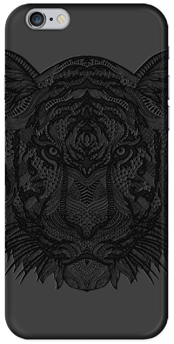 Deppa Art Case чехол для Apple iPhone 6/6s, Black (тигр)