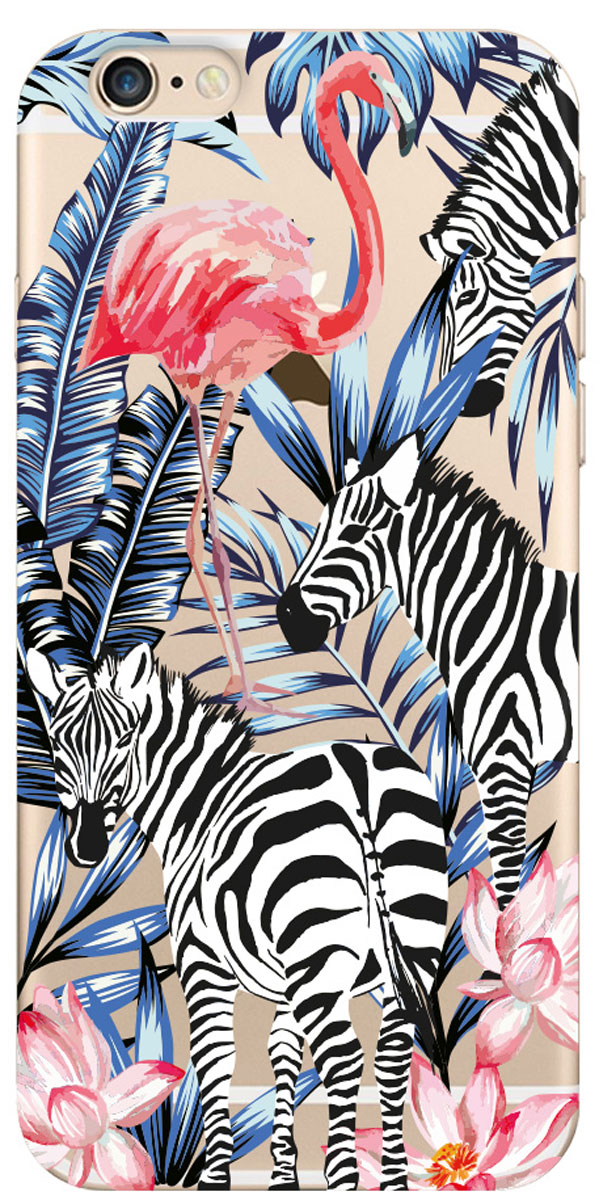 Deppa Art Case чехол для Apple iPhone 6/6s, Jungle (зебры)