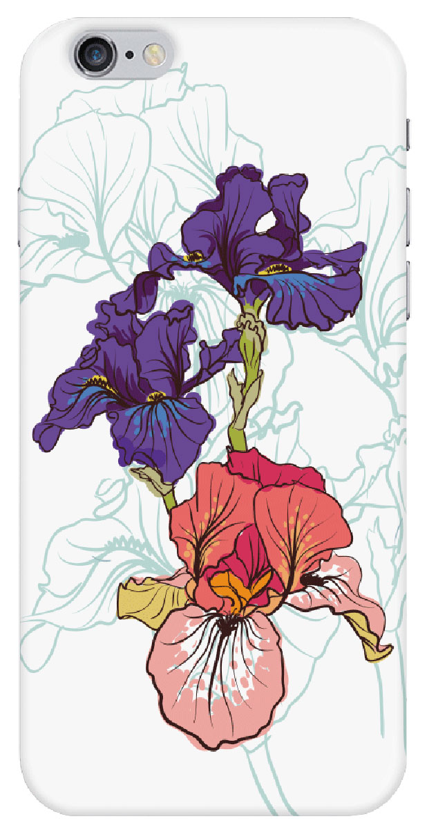Deppa Art Case чехол для Apple iPhone 6/6s, Pastel (ирисы)