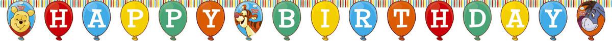 Procos Гирлянда-буквы Happy Birthday Винни-Пух гирлянда алфавит винни happy birthday