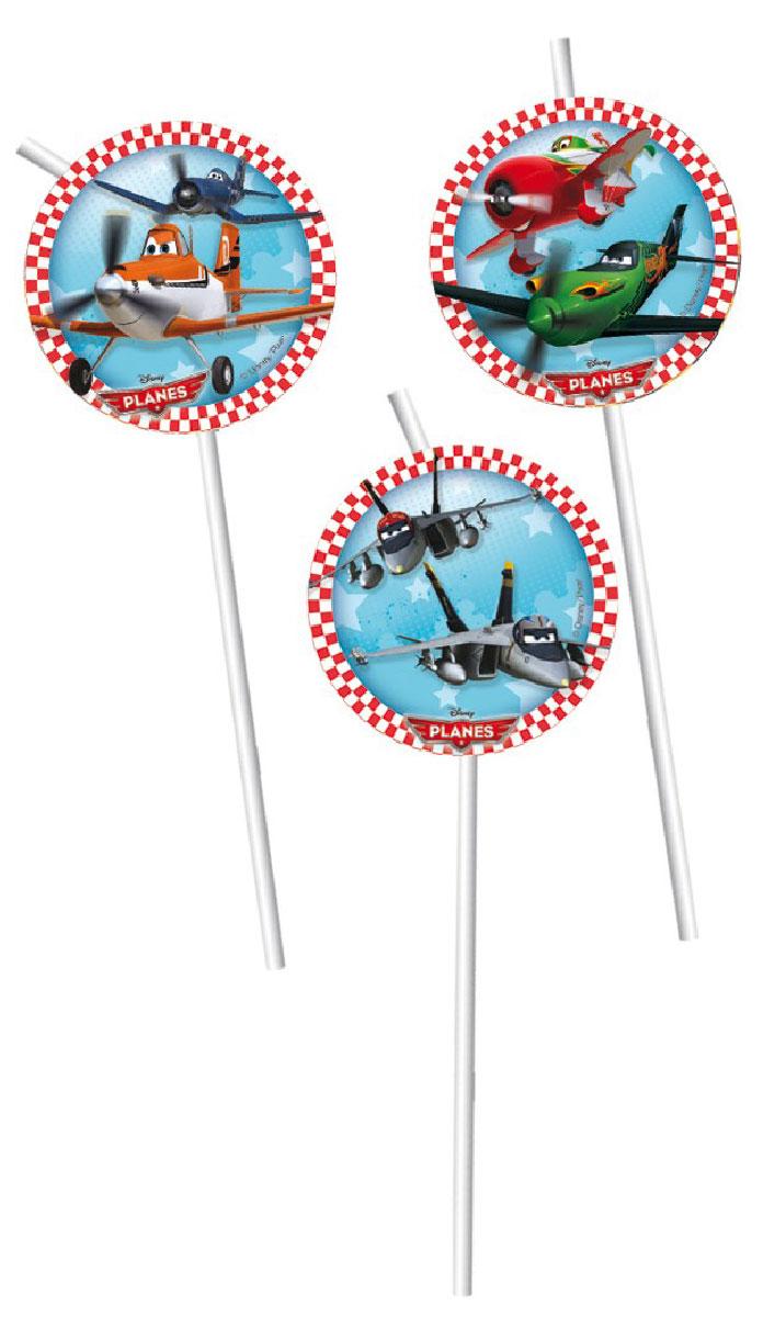 Procos Сервировка детского праздничного стола Соломка для напитков Самолеты, 6 шт маски procos 84078 самолеты