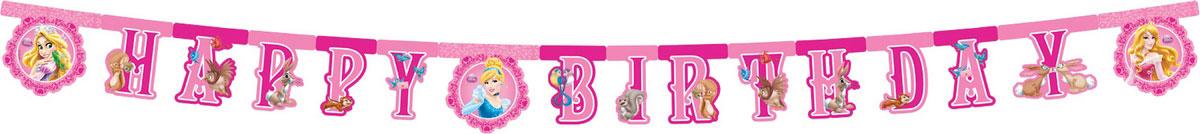 Procos Гирлянда-буквы Happy Birthday Принцессы и животные -  Гирлянды и подвески