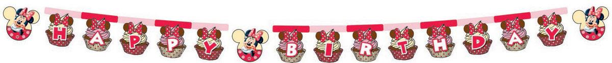 Procos Гирлянда-буквы Happy Birthday Минни Маус disney гирлянда детская с днем рождения минни маус