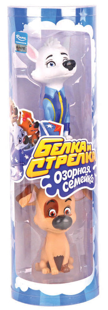 Белка и Стрелка Набор игрушек для ванной Белка и Бублик